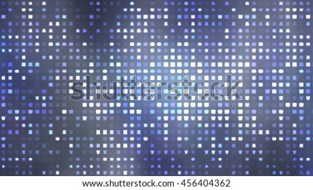 Image of defocused stadium lights.  Abstract blue background.