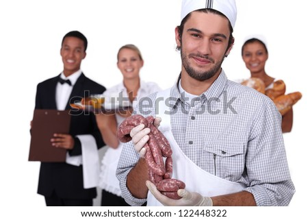 Image of different occupations - stock photo
