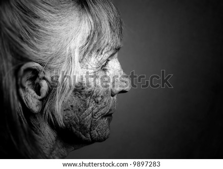 Image of Elderly woman Contemplating her life