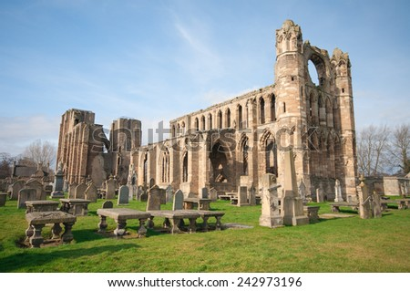 Image of Elgin cathedral in Scotland - stock photo