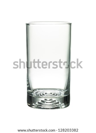 Image of empty glass against white background