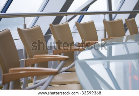 Image of empty modern conference hall