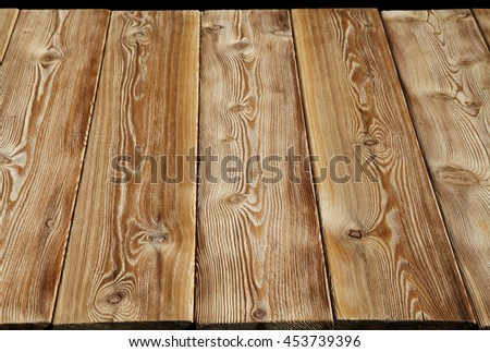 Image of empty wooden table top - stock photo