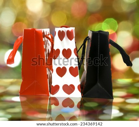 Image of gift shopping bags - stock photo