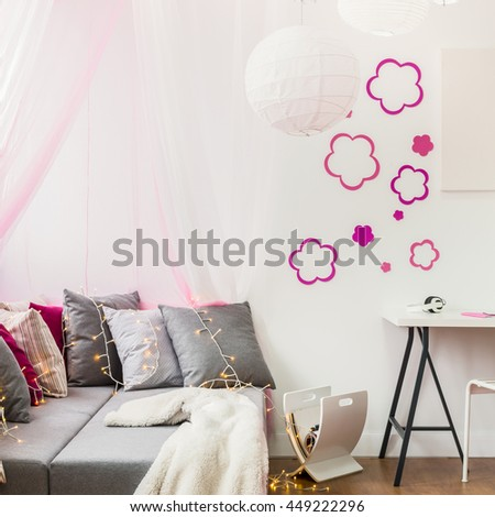 Image of girly style room for little princess - stock photo