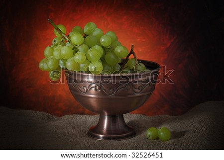 Image of grape with limited light and abstract background