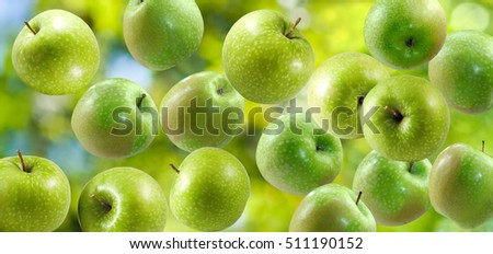 image of green apples closeup