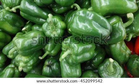 Image of  green capsicum  - stock photo