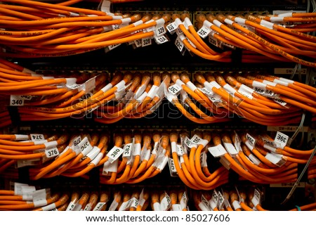 image of internet router network connectors - stock photo