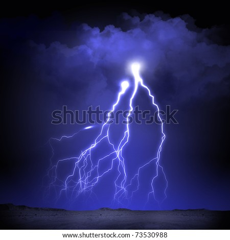 image of lightning on a dark blue background