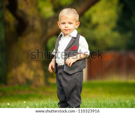 Image of little boy in the park