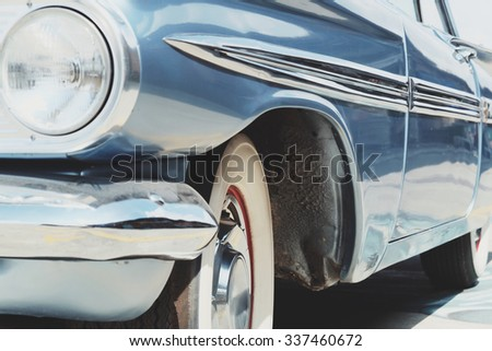 image of Luxury vintage car side  - stock photo