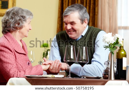 Image of man making a declaration of love to his wife - stock photo