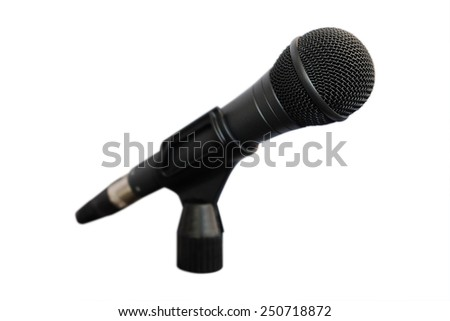 image of microphone under the white background