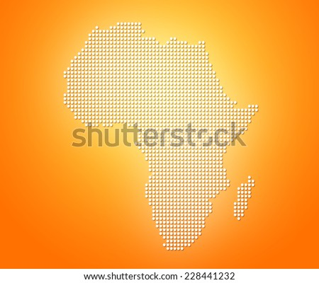 Image of modern optimally dotted Africa map illustration - stock photo
