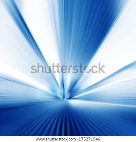 Image of moving walkway in modern building. Motion blur. - stock photo