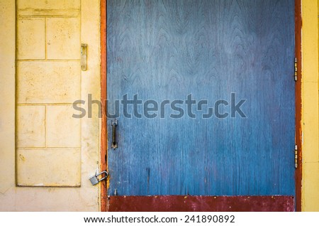 image of old rusty door lock for background usage. - stock photo