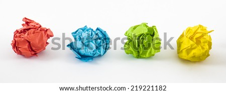 image of paper crumpled color texture