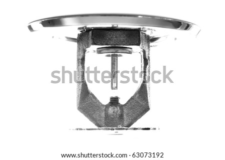 Image of pendent fire sprinkler high key. - stock photo