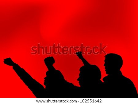 image of people with clenched fists - stock photo