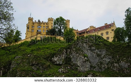Image of picturesque Castle Hohenschwangau in Bavaria, Germany