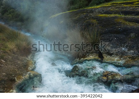 Image of picturesque thermal springs in Thermopiles, Greece