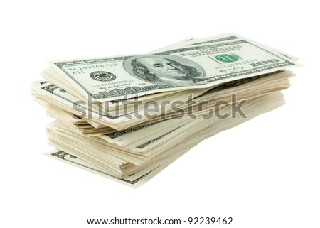 Image of pile of dollars