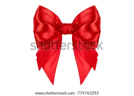 Image of red celebration ribbons with a red bow