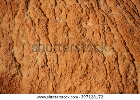 Image of red dry soil texture - stock photo