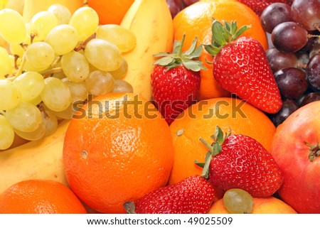 Image of ripe fruits for background.