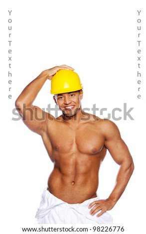 Image of sexy builder with helmet
