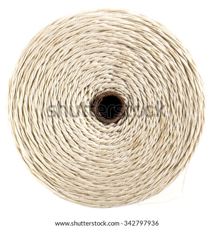Image of spool of thread top view isolated. - stock photo