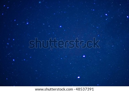 Image of stars in the sky at night . - stock photo