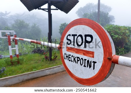 image of Stop sign - stock photo