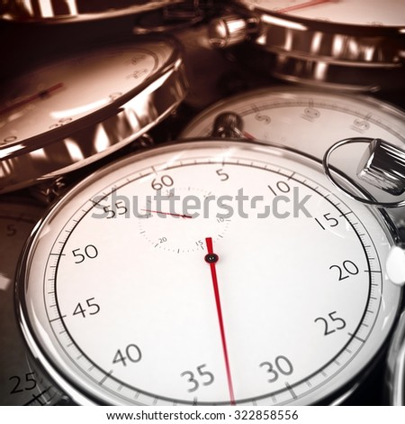 Image of stopwatches that measures the time - stock photo