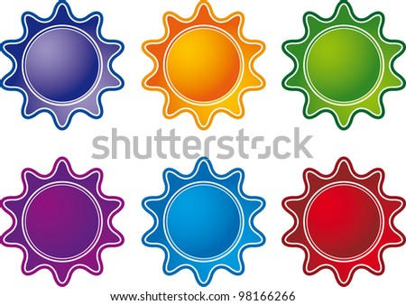 image of the labels on products - stock photo