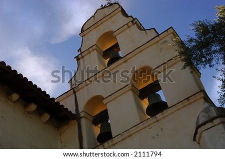 Image of the mission bells, santa barbara, California - stock photo