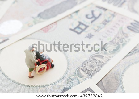 Image of the old age life - stock photo
