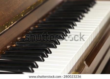image of the piano keys - stock photo