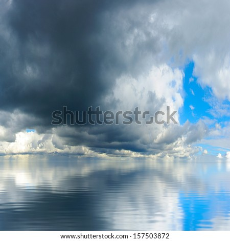 image of the sky above the water