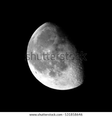 Image of the waning gibbous. Phase of the moon