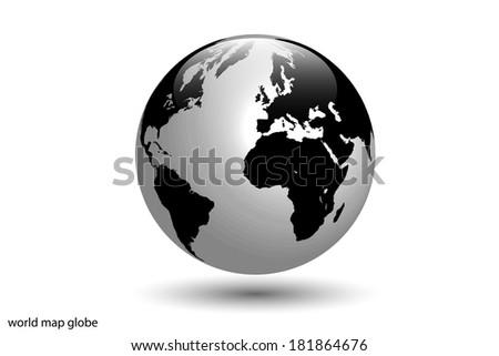 Image of the world globe isolated on a white background. - stock photo