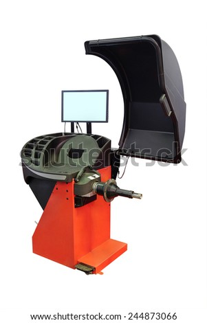 image of tyre fitting machine under the white background