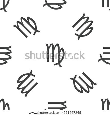 Image Virgo Zodiac Symbol Repeated On Stock Illustration 291447245