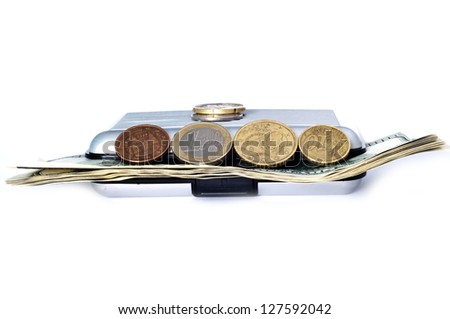 image of wallet with coins and tickets