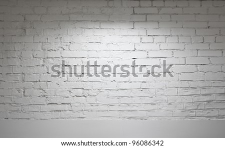 Image of white brick wall background