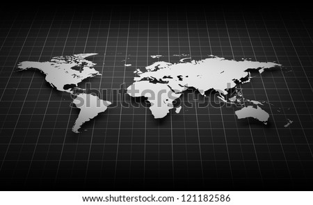 Image of World Map - stock photo