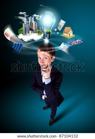 Image of young creative and innovative bussiness man
