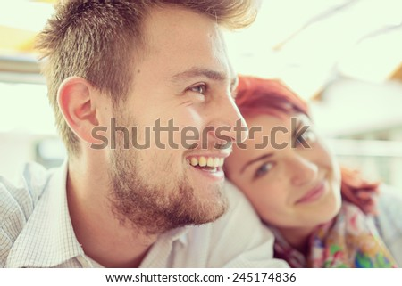 Image of young people in real authentic life - stock photo