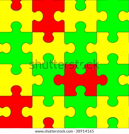 Image. Seamless ornament puzzle in color 61. More seamless see in portfolio